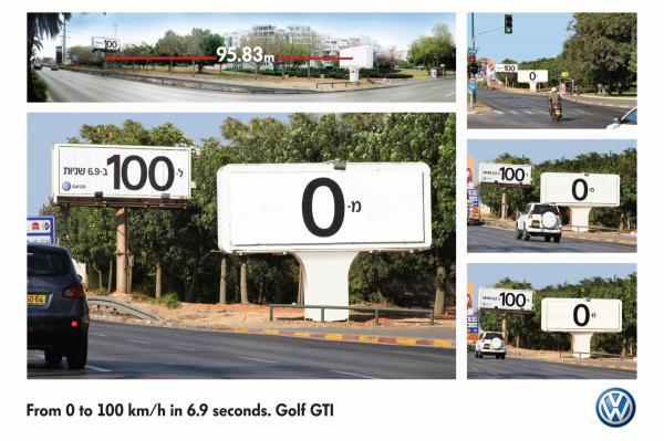 A VW sem maradhatott ki ebből. Tessék, ennyire gyorsul fel e két tábla között egy Golf GTi, ami persze semmit nem mond el arról, hogy valójában mennyire gyors