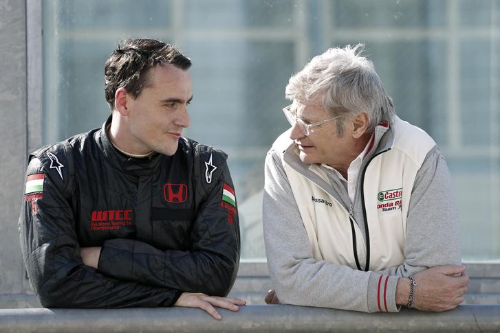 Michelisz Norbert a JAS Motorsport csapatfőnökével,Alessandro Marianival