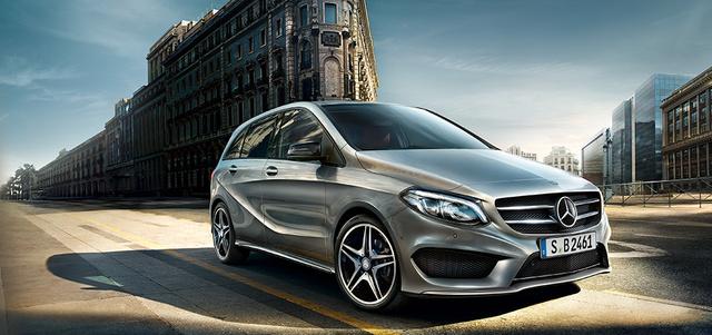 Ez az egyik visszahívott, B-osztályos Mercedes.