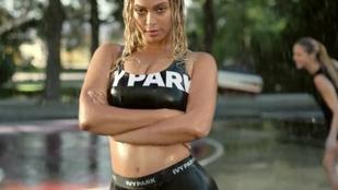 Beyoncé csuromvizesen prezentálta sportmárkáját