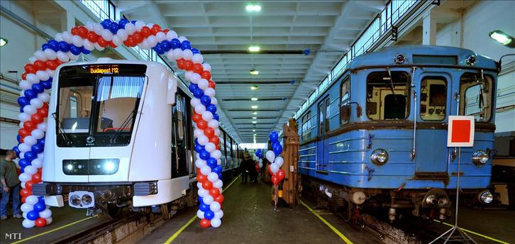 Az Alstom által gyártott új metrókocsi, a Metropolis 2009-es bemutatóján.