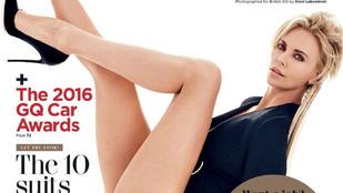 Na, ez egy igazán dögös címlap Charlize Theronról