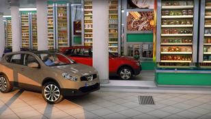 Autóban parkolva bevásárolni menő vagy ciki?