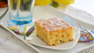 Pénteki süti: vaníliás-ananászos kocka