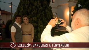 A nap képe: Andy Vajna fotózza Banderast és Szalai Vivient