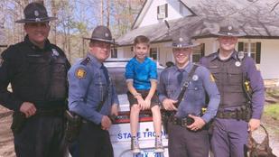 Rendőrök mentették meg egy 10 éves fió születésnapi buliját
