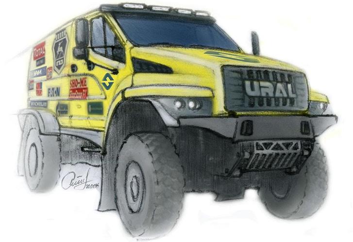 Valami ilyesmi lesz a 2017-es Dakaron szereplő URAL Next