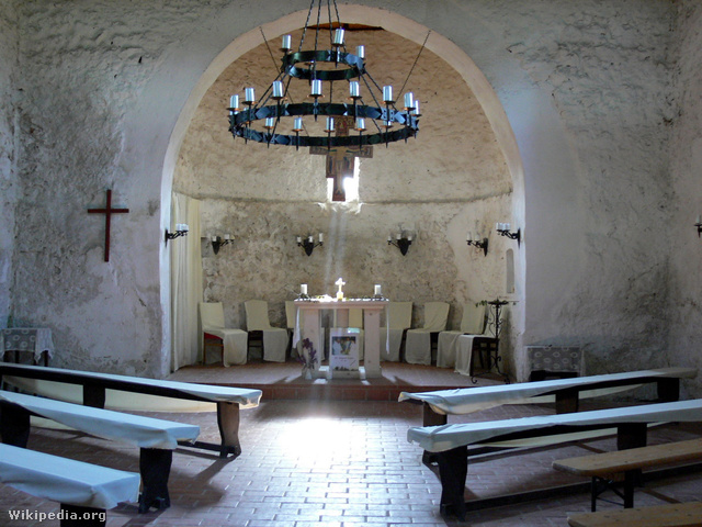 Gercse középkori temploma belülről