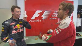 Vettel kiakadt Kvjatra: Úgy érkeztél, mint egy torpedó!