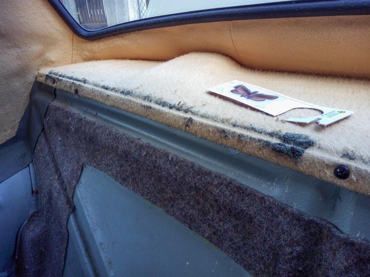 A molyszar a hátsó ülés tömése, átalakulva