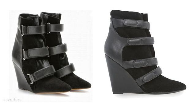 Isabel Marant tervezte a bal oldali cipőt, a jobb oldali a Mango műve.