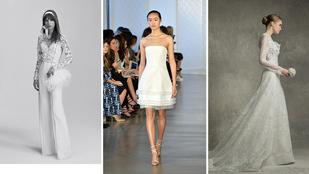 Íme a legújabb menyasszonyi ruha trendek