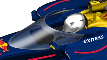 Lekörözi a Red Bull-fejvédő a Ferrariét