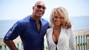 Emberek! Pamela Anderson a Baywatch forgatásán!