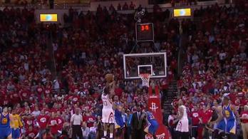 Kosárthriller az NBA-ben: a Warriors 2 mp-cel a vége előtt bukott