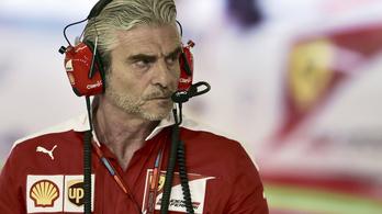 A Ferrari 1 tizedre a mercitől, mégis vészhelyzetben