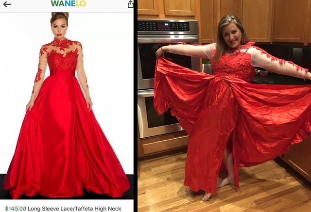 Juliet Jacoby 149 dollárért (41 ezer forint) szeretett volna egy olyan ruhát kapni, aminek már reklámfotóján látszik, hogy ha rendesen van elkészítve, csak az alapanyag métere drágább, mint 150 dollár, nemhogy a csipkével megspékelt, kész változat: perszehogy csalódnia kellett.
