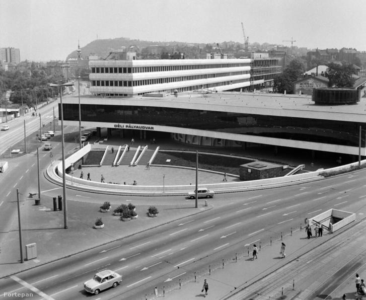 A Déli pályaudvar valamikor az 1975-ös végleges elkészülte idején