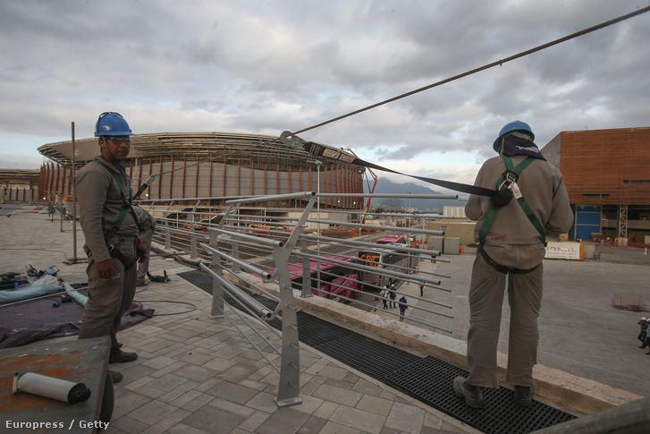 Építőmunkásos Rio di Janieroban 2015. október 6-án.