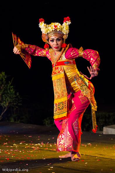 Legong táncos Balin