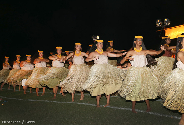 Hula-táncosok Hawaii-on