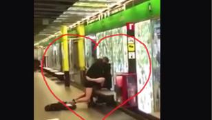 A barcelonai metrómegállóban szexelt egy pár