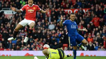 MU-Leicester 1-1, már csak két pont kell