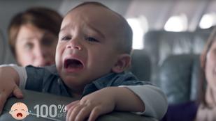 Mindenki utálja, ha egy baba sír a repülőn, kivéve ha pénz jár érte