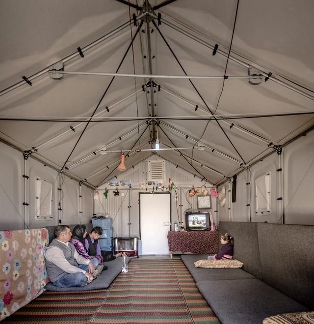 Kawergosk menekült tábor Irakban.