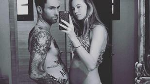 Adam Levine hasa ugyanakkora, mint terhes feleségéé