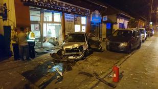 Fogorvosi rendelőt zúzott le egy autó Budapesten