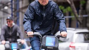 Leonardo DiCaprio New Yorkban biciklizett