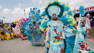 Meseszépek a Mardi Gras indiánok jelmezei