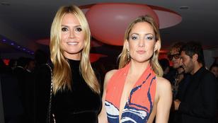 Heidi Klum Kate Hudsonnal bulizott Cannes-ban