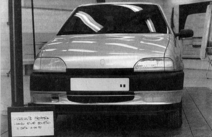 A Granta műszaki alapjait adó Kalina prototípusa 1990-ben kapta meg a Giugiaro-formát, ami nem csak ebből a szögből emlékeztet az első Puntóra