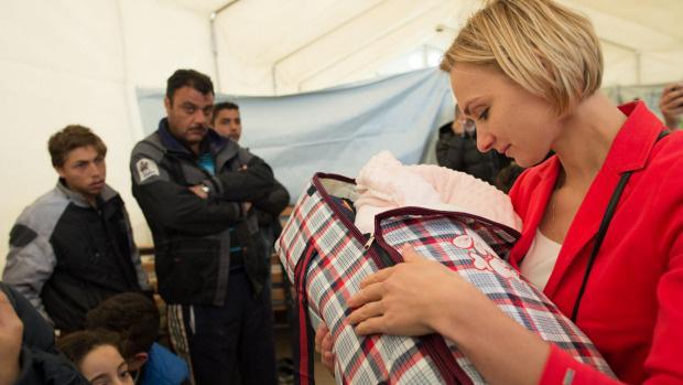 Irina Kolesnikova a menekülttáborban