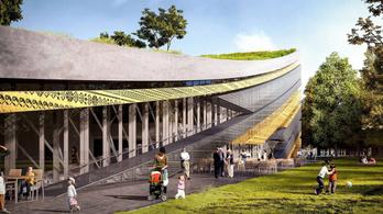 Egy nagy, csíkos gördeszkapályára hasonlít az új Néprajzi Múzeum