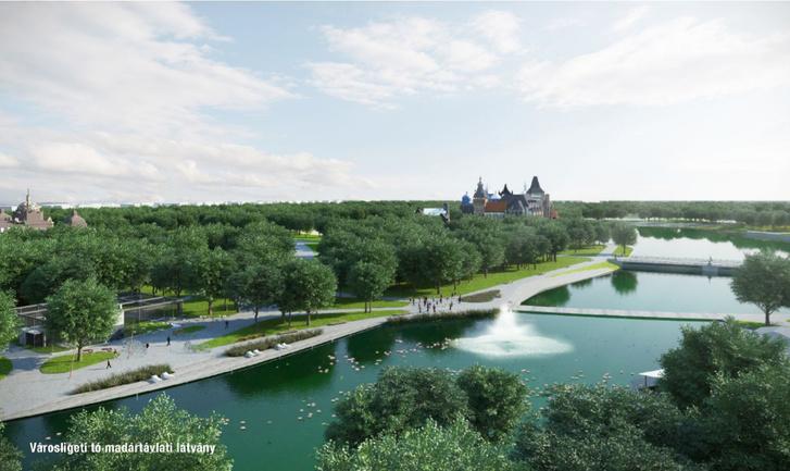 A városligeti tó látványterve