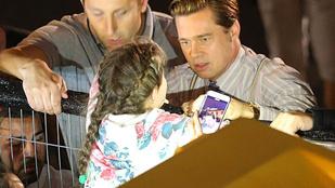 Brad Pitt megmentett egy kislányt