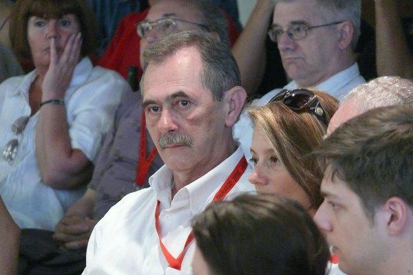 Solténszky Tibor válogató a Bányavakság szakmai beszélgetésén - 13. Pécsi Országos Színházi Találkozó