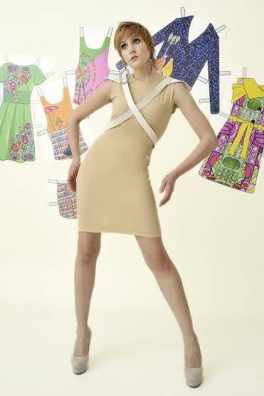 Tépőzáras ruha kollekciót tervezett Szilas Rita ruhatervező és Somogyi Réka selyemfestő.