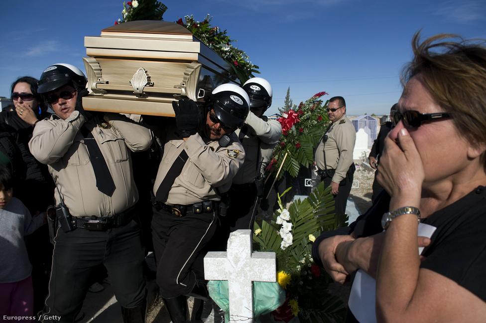 A 36 évesen meggyilkolt David Miranda Ramirez rendőrtiszt koporsóját viszik a rendőrség tagjai. A rendőrök és a kartell embereinek összecsapása nem ritka jelenség. 2016 április 26.-án fegyveresek megtámadtak egy hotelt Acopulcóban, ahol rendőrök tartózkodtak. Ezzel egy időben egy másik csoport a szövetségi rendőrség bázisát támadta meg. Minden bizonnyal a Beltran Leyva drogkartell tagjai álltak bosszút vezérük, Freddy del Valle Berdel letartóztatása miatt.