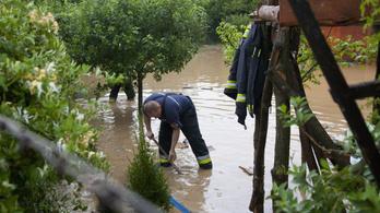 Egy óra alatt egy hónapnyi eső zúdult Zalára