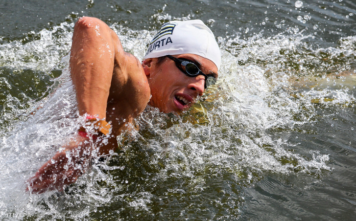 Gyurta Gergely a berlini úszó Európa-bajnokság férfi nyíltvizi 10 kilométeres versenyében 2014. augusztus 14-én