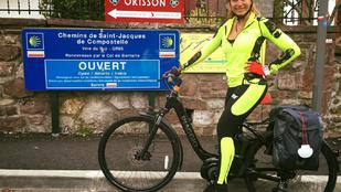 Instahíradó: Horváth Éva kap hideget-meleget, amiért elektromos biciklivel El Caminózik
