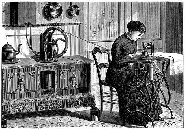 Így nézett ki a varrógép az 1800-as években.