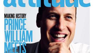 Vilmos herceg egy melegmagazin címlapjáról mosolyog
