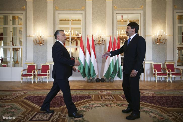 Orbán Ádernél a Sándor-palotában