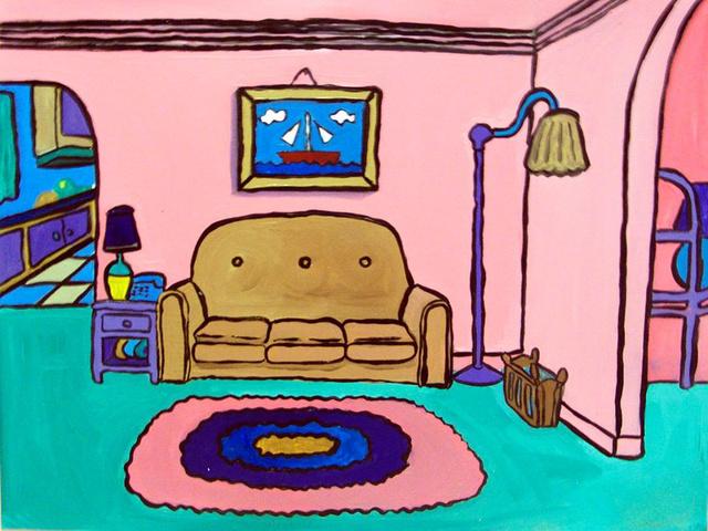 Így festette meg a Simpson család nappaliját.
