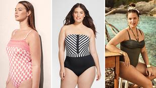 Divatos fürdőruhákban nyaralnak a telt karcsú nők